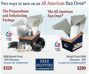 Sun Oven Sale