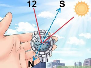 Find north with your watch - from wikihow