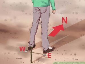 Shadow stick method part 2 - from wikihow